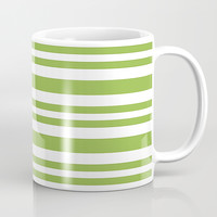 Mint Green Stripes Coffee Mug by kasseggs