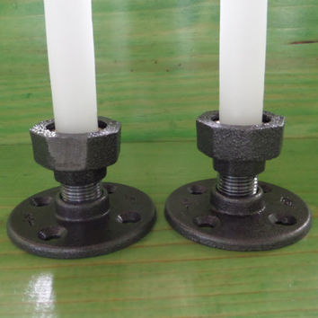 Taper Candle Holders - Set of Two Cedar Creek Essentials  Steampunk Decor