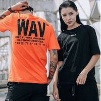Couple Short Sleeve Tops Simple Design Fashion T-shirts [10722672835]