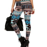 Sale-blue/multi Mixed Tribal Printed