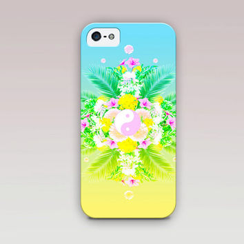 Tropical Yin-Yang Hippie Phone Case For - iPhone 6 Case - iPhone 5 Case - iPhone 4 Case - Samsung S4 Case - iPhone 5C