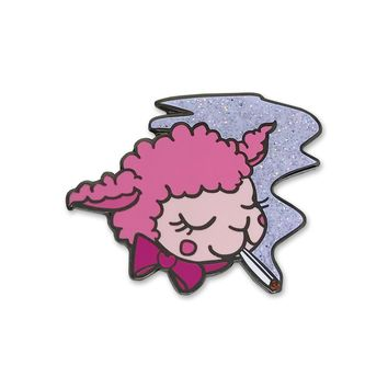 Smoking Lamb Enamel Pin
