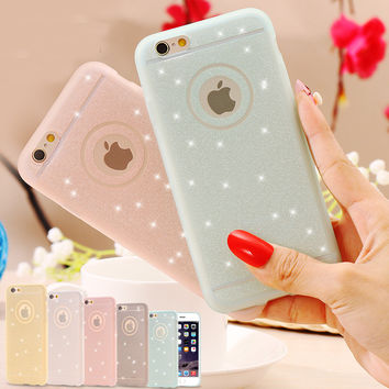 5S SE Fresh Lovely Silicon Case Bling Powder Matte Cover For Apple iPhone 5 5S 5G Phone Bag Women Lady Girl Shell For iphone 5s-04105