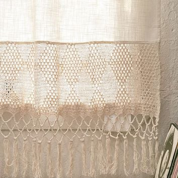 Delilah Crochet Curtain | Urban Outfitters