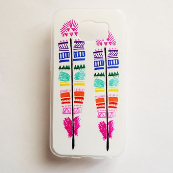 Samsung Galaxy S6 Feathers Soft Plastic Galaxy S6 Back Cute Samsung S6 Cover Native S6