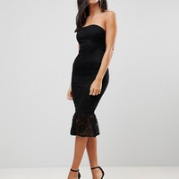 AX Paris Bandeau Pephem Lace Dress at asos.com