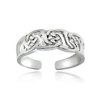 Hoops & Loops Sterling Silver Irish Celtic Knot Toe Ring