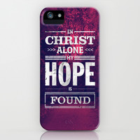 In Christ Alone iPhone & iPod Case by The Worship Project