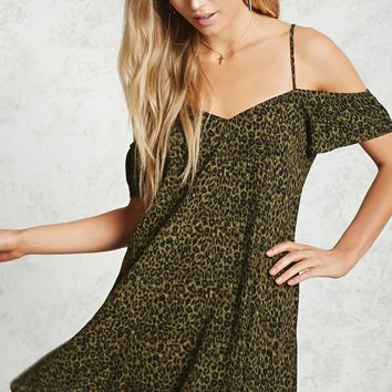 Leopard Open-Shoulder Dress