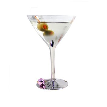 Martini Glass: Silver Ombre