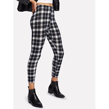 Plaid Print Leggings