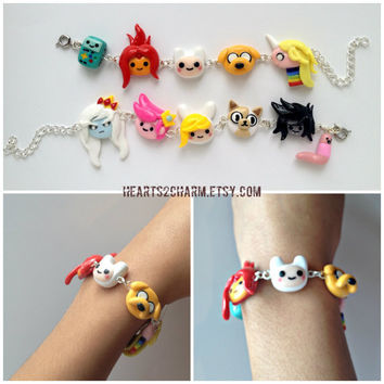 Adventure Time Charm Bracelet. Choose up to 6 of by Hearts2Charm