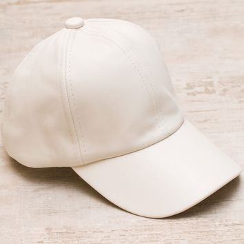 Alabama Shakes Pleather Hat - Ivory