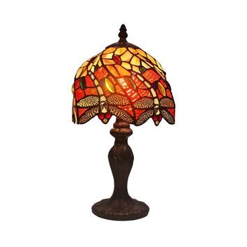 Amora Lighting Home Decorative Tiffany Style AM064TL08 Dragonfly Table Lamp 8
