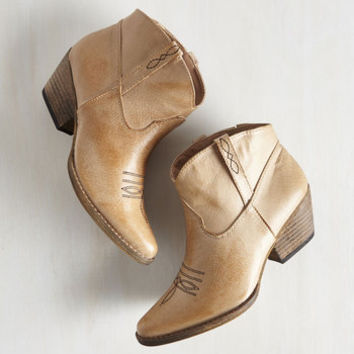 Rustic The Styled, Wild West Bootie in Sand