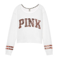 Campus Cutoff Crew Bling - PINK - Victoria's Secret