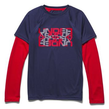 Boy's Under Armour 'Tech' Layer Look T-Shirt