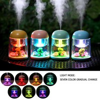 180ml Micro Landscape Humidifier LED Night Light Ultrasonic USB Humidifiers Mister