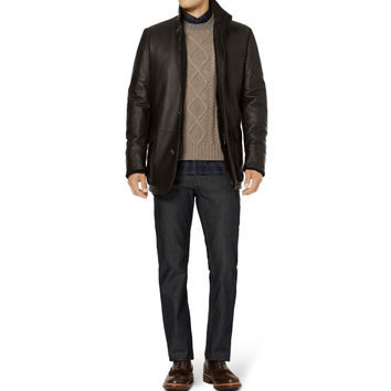 Loro Piana - Roadster Villa D'Este Castorino-Lined Leather Coat | MR PORTER