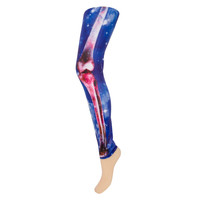 Banned Galaxy Skull Leggings (Blue) | Blue Banana UK