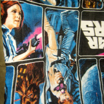 Star Wars fleece fabric Han Solo Luke Princess Leia Chewbacca polyester quilt quilting sewing material to sew crafting by the yard