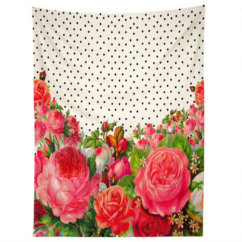 Allyson Johnson Bold Floral And Dots Tapestry