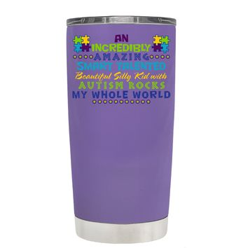 TREK An Amazing Smart Talented Kid with Autism on Lavender 20 oz Tumbler Cup