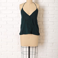 Green Snakeskin Halter Top by NRFB-FINAL SALE