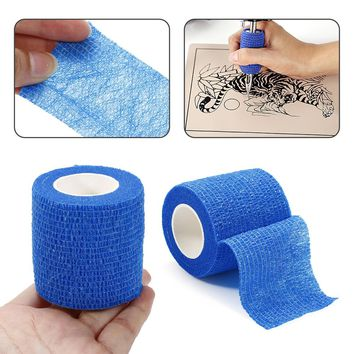 Disposable Tattoo accesories Self Adhesive Elastic 5CM Wide Sports Tattoo Elbow Bandage Nail Tapes Finger Protection Tape Wrap