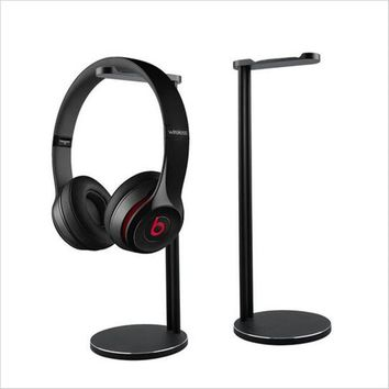 Aluminum Headphones Stand Rack, Modern Fashion Headset Holder Earphone Bracket Hanger for All Sizes Gaming and Audio Headphone