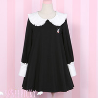 Kawaii Dark Rabbit Girl Dress Free Ship SP141544 from SpreePicky