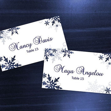 Best Blue Wedding Place Cards Products On Wanelo - Wedding place card template word