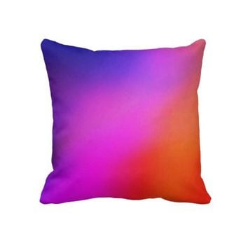 Magenta Purple Pink & Orange Abstract Throw Pillow- Colorful Pillows- modern throw pillows,Home decor, bedroom,dorm,decor,decorative pillows