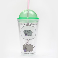 Pusheen the Cat plastic tumbler