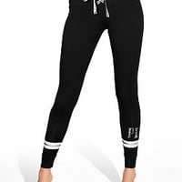 Cotton Lace-Up Campus Legging - PINK - Victoria's Secret