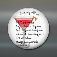 cocktail recipe fridge magnet cosmopolitan recipe favourite drinks magnet house warming gift fun magnets MA-1649