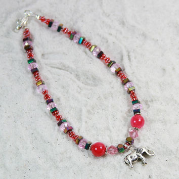 CHARM - Beaded Anklet Summer Jewelry Ankle Jewelry Vacation Anklet