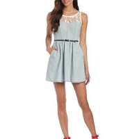 Jolt Juniors Chambray Dress
