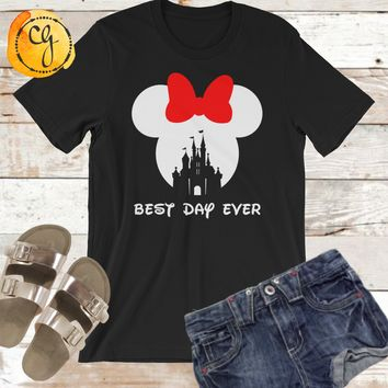Best Day Ever Minnie Mouse Disney Vacation Unisex Jersey Tee