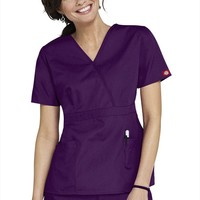 Dickies Everyday empire waist fashion scrub top. - Scrubs and Beyond