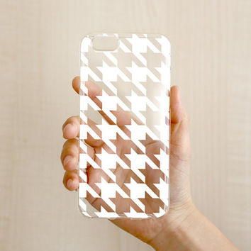 iPhone Case - 'Houndstooth' - iPhone 6s case, iPhone 6 case, iPhone 6+ case - Clear Flexible Rubber TPU case J30