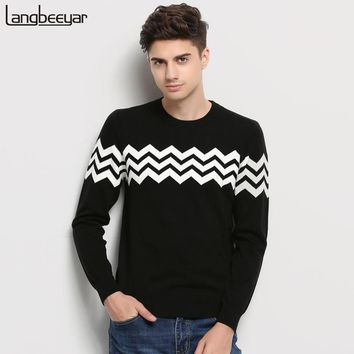 Hot 2017 New Autumn Winter Fashion Brand Clothing Men Knitted Sweater O-Neck Slim Fit Pullover Men Jacquard Sweaters For Men