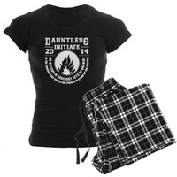 CafePress Divergent - Dauntless Initiate Pajamas Women's Dark Pajamas - S With Checker Pant