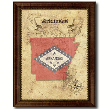 Arkansas State Vintage Map Home Decor Wall Art Office Decoration Gift Ideas