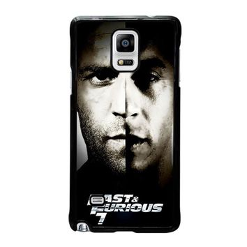 FAST AND FURIOUS 7 Samsung Galaxy Note 4 Case Cover