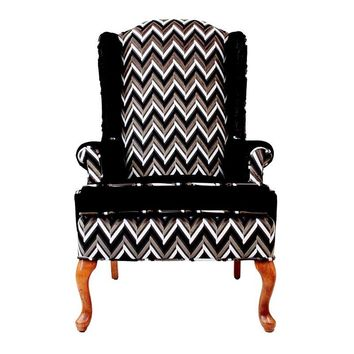 Pre-owned Vintage Upholstered Lacie Wingback Chair