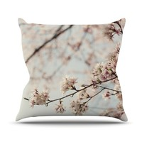 "Catherine McDonald ""Japanese Cherry Blossom"" Throw Pillow"