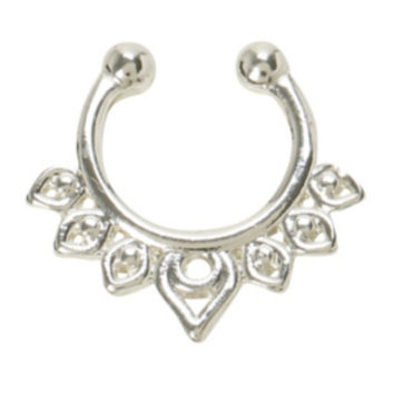 LOVEsick Triangle Faux Septum Ring