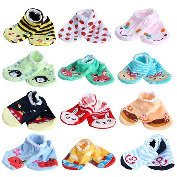 Baby Boy Girl Socks Fashion Cartoon Soft Floor Baby Sock Newborn Infant Sock Spring