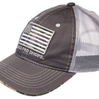 Bass Pro Shops Charcoal Camo Flag Mesh Back Cap | Bass Pro Shops
